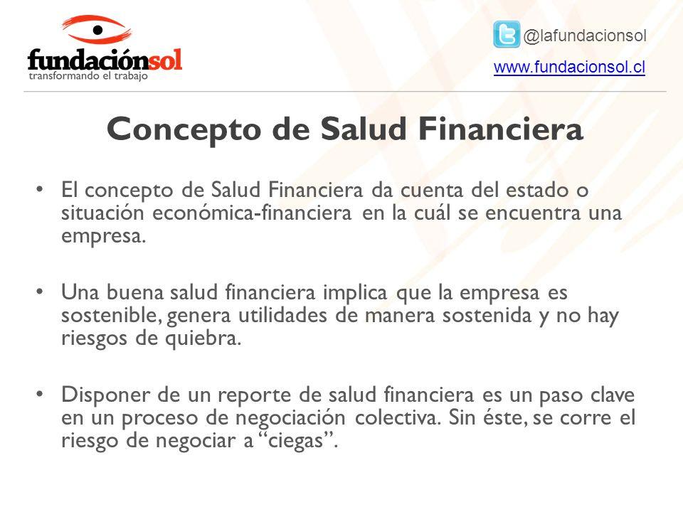 Concepto de Salud Financiera