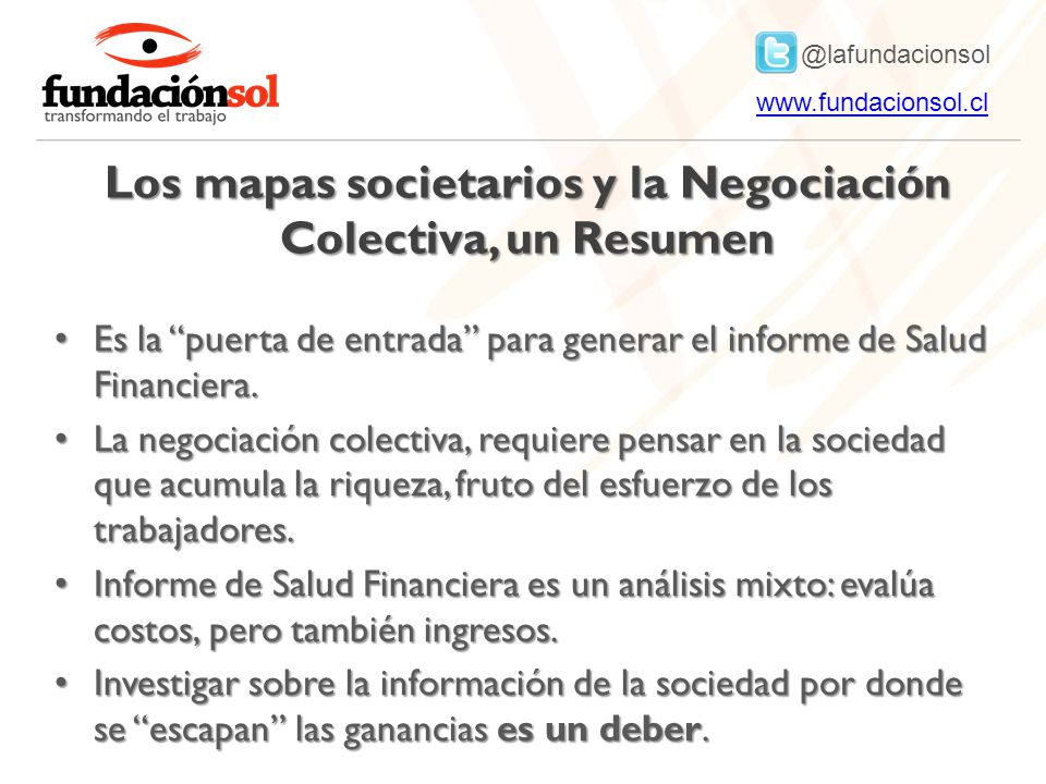 Los mapas societarios y la Negociación Colectiva, un Resumen