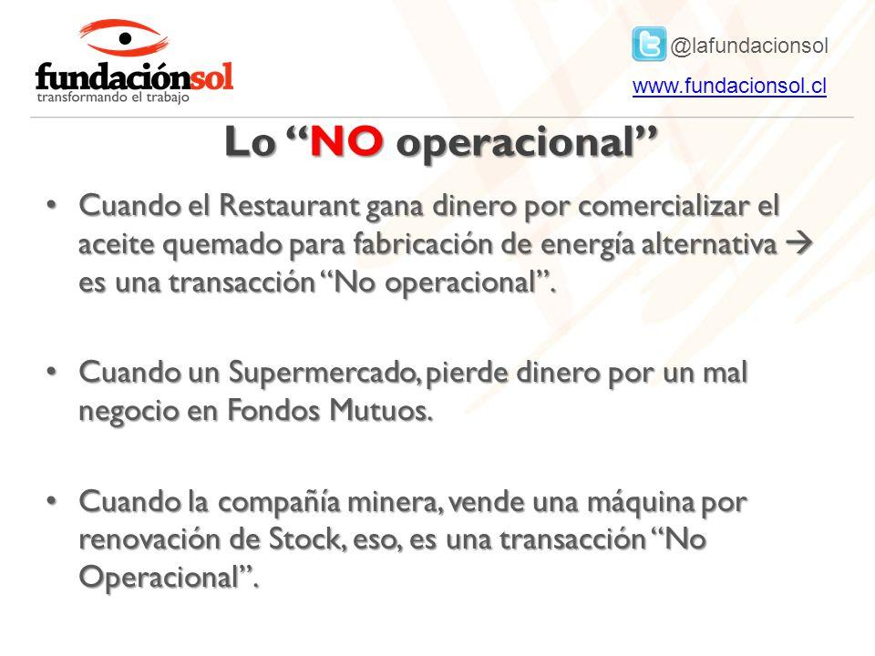 Lo NO operacional