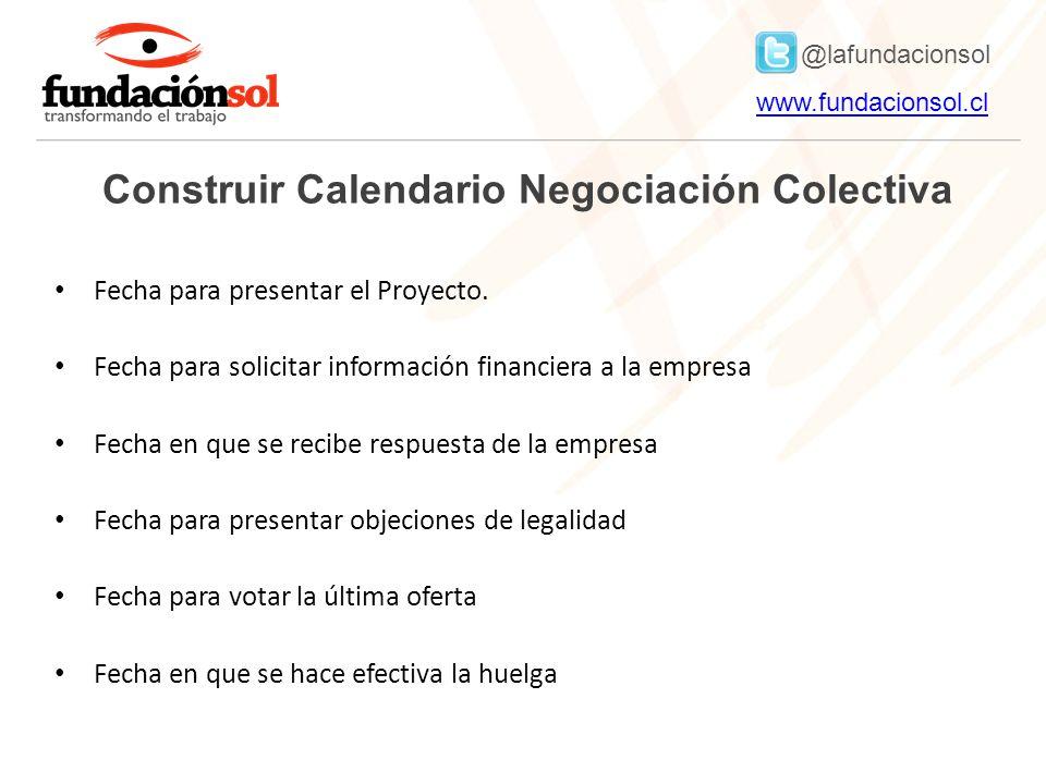 Construir Calendario Negociación Colectiva