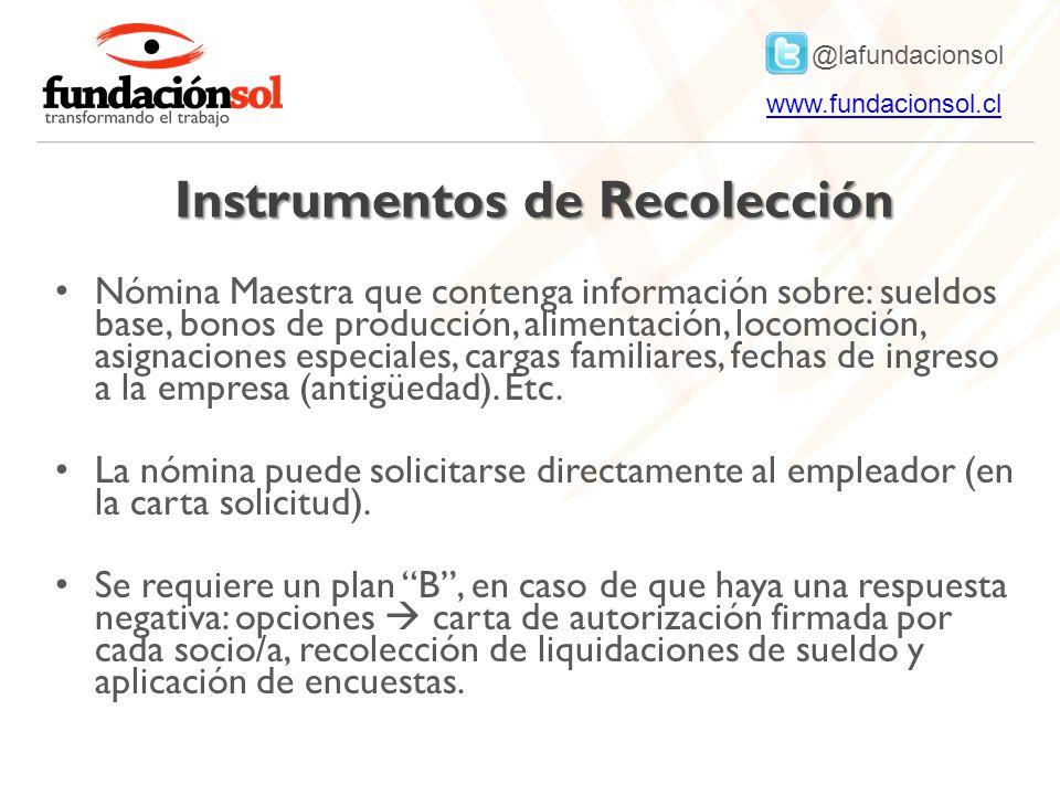 Instrumentos de Recolección