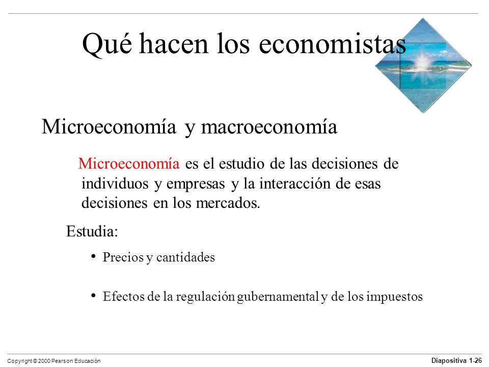 Qué hacen los economistas