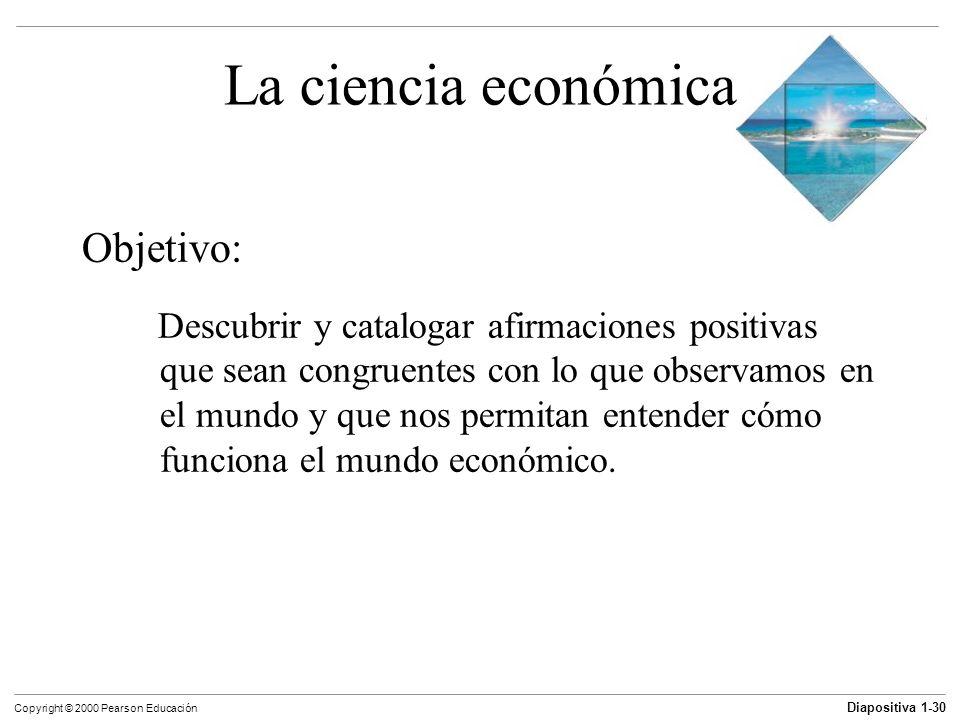 La ciencia económica Objetivo: