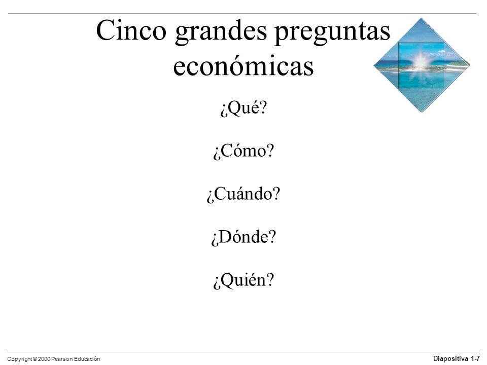 Cinco grandes preguntas económicas