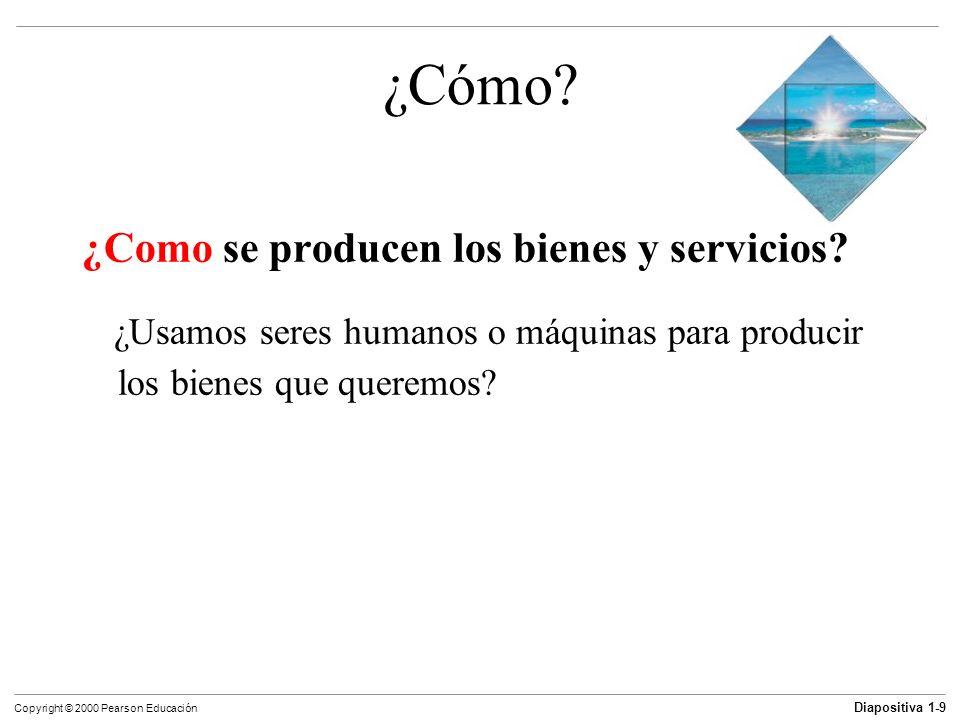 ¿Cómo ¿Como se producen los bienes y servicios
