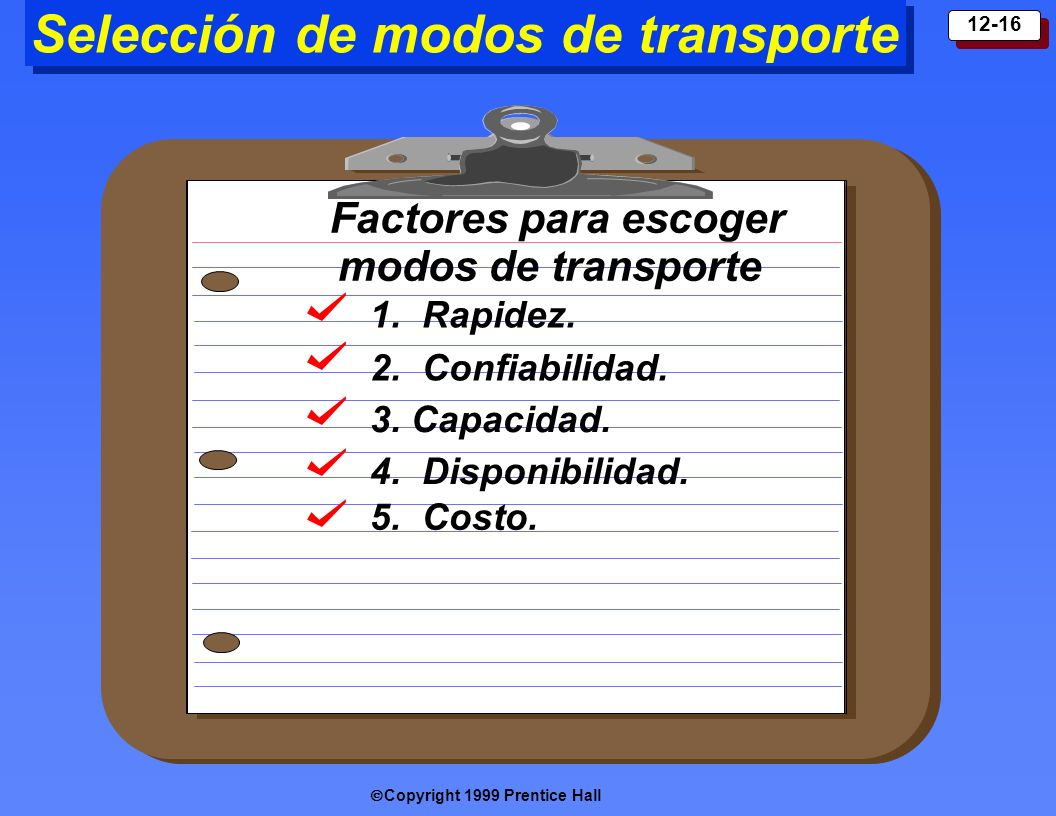 Selección de modos de transporte