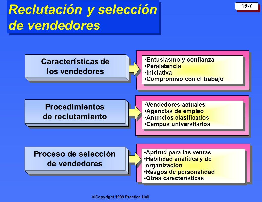 Reclutación y selección de vendedores