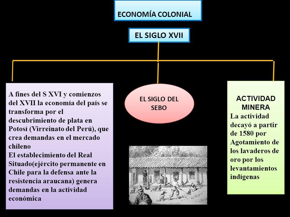 El siglo xvii ECONOMÍA COLONIAL