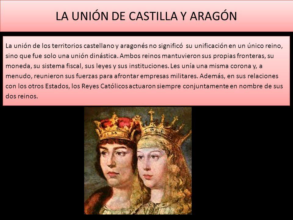 LA UNIÓN DE CASTILLA Y ARAGÓN