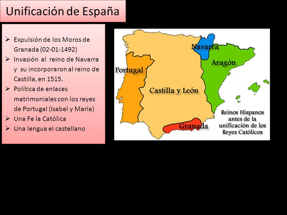 Unificación de España Expulsión de los Moros de Granada (02-01-1492)