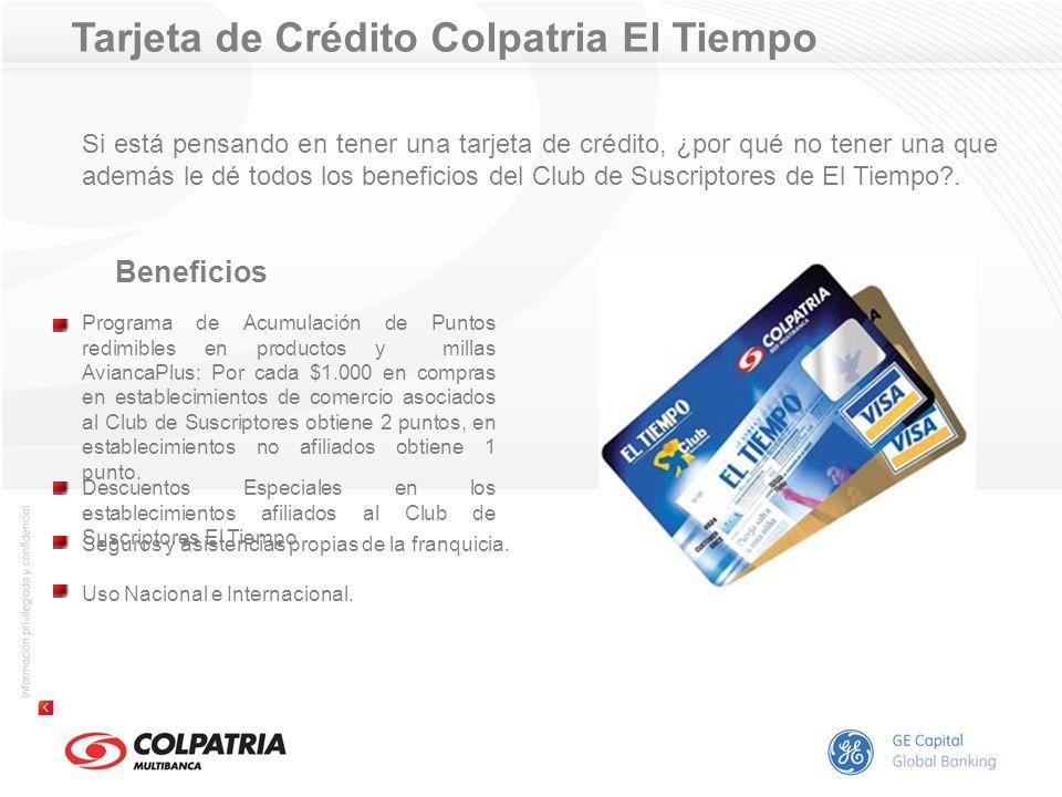 Tarjeta de Crédito Colpatria El Tiempo