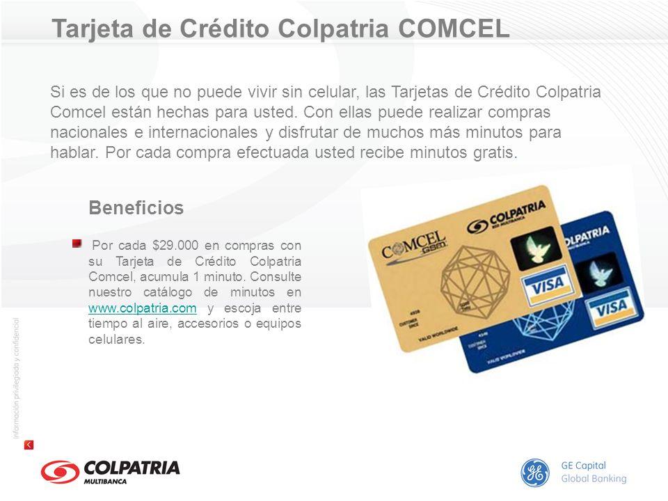Tarjeta de Crédito Colpatria COMCEL