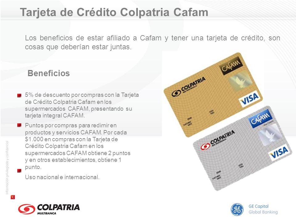 Tarjeta de Crédito Colpatria Cafam