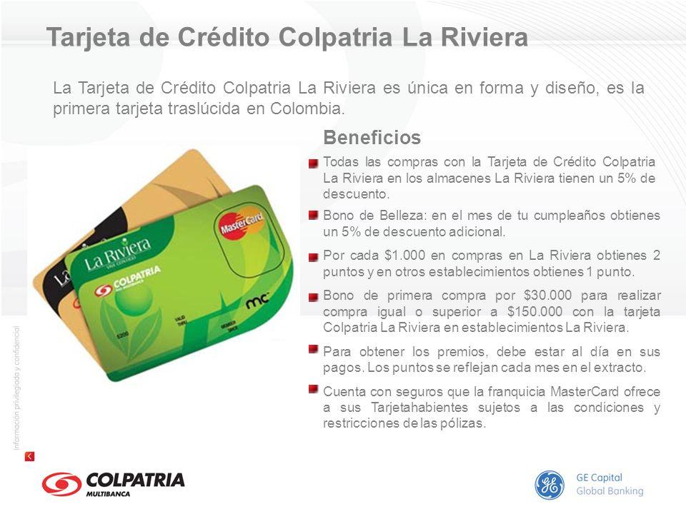 Tarjeta de Crédito Colpatria La Riviera