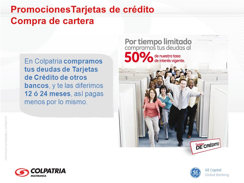 PromocionesTarjetas de crédito Compra de cartera