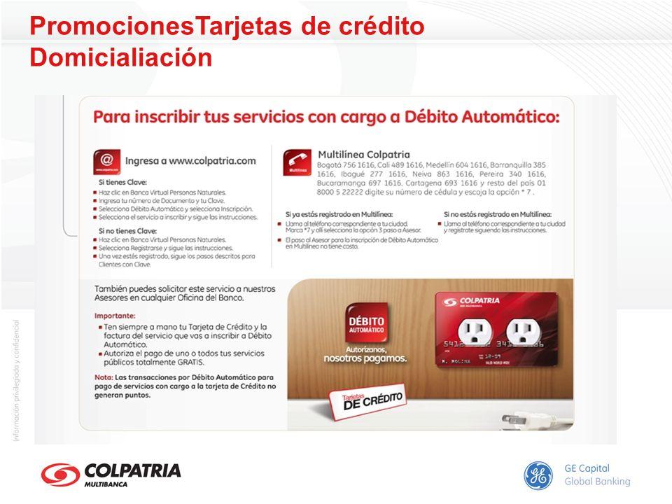 PromocionesTarjetas de crédito