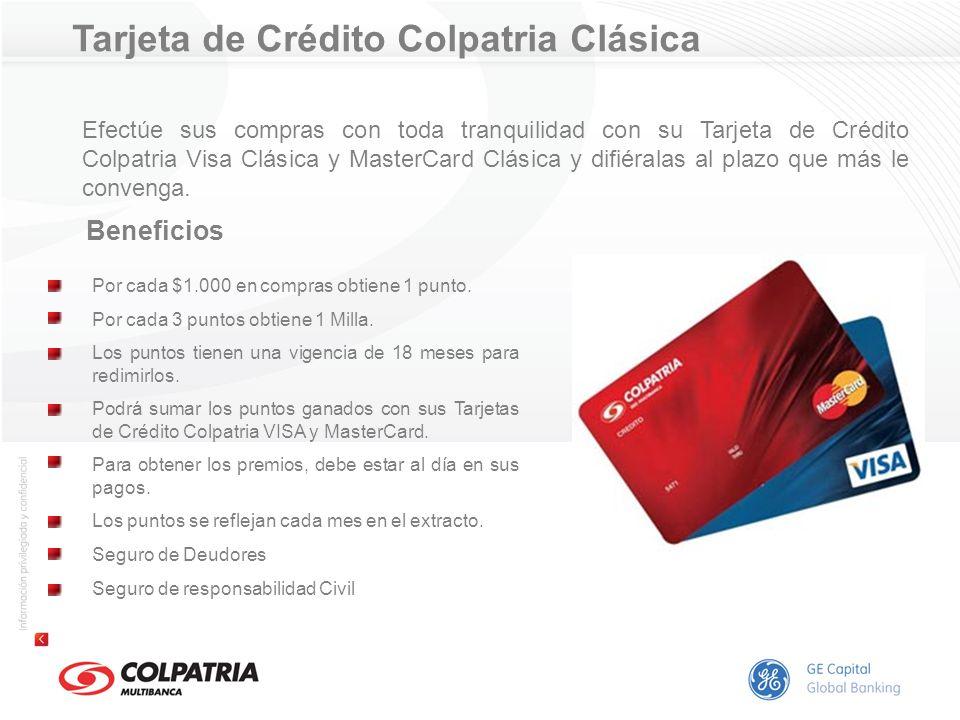 Tarjeta de Crédito Colpatria Clásica