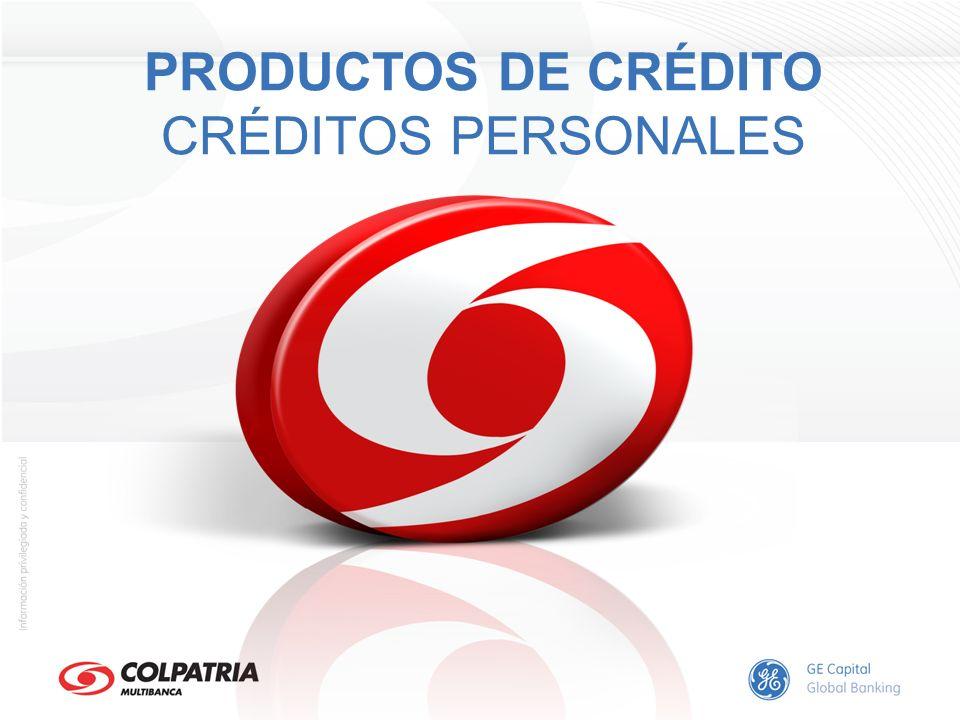 PRODUCTOS DE CRÉDITO CRÉDITOS PERSONALES