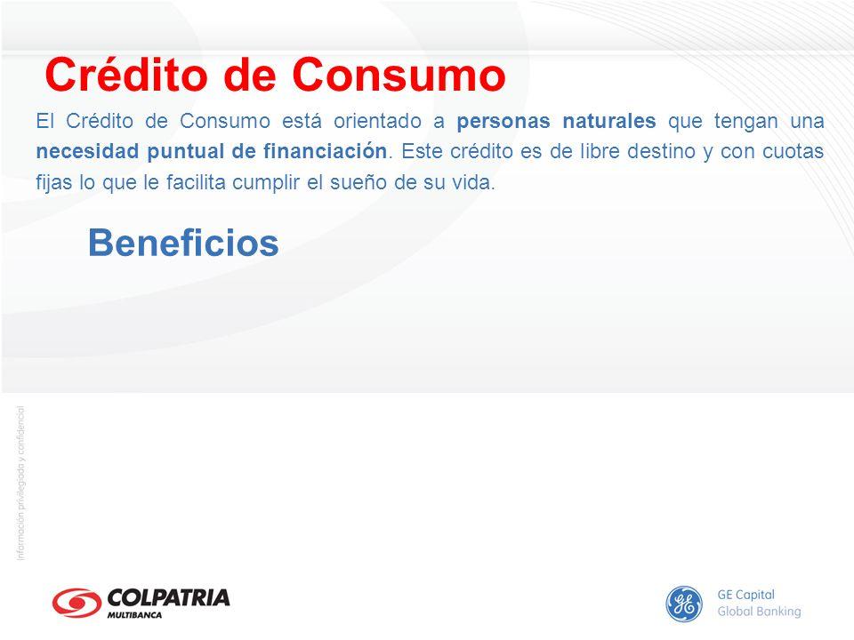 Crédito de Consumo Beneficios