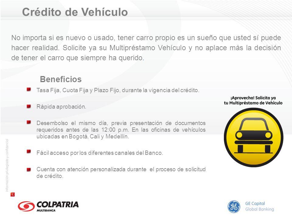 Beneficios Crédito de Vehículo
