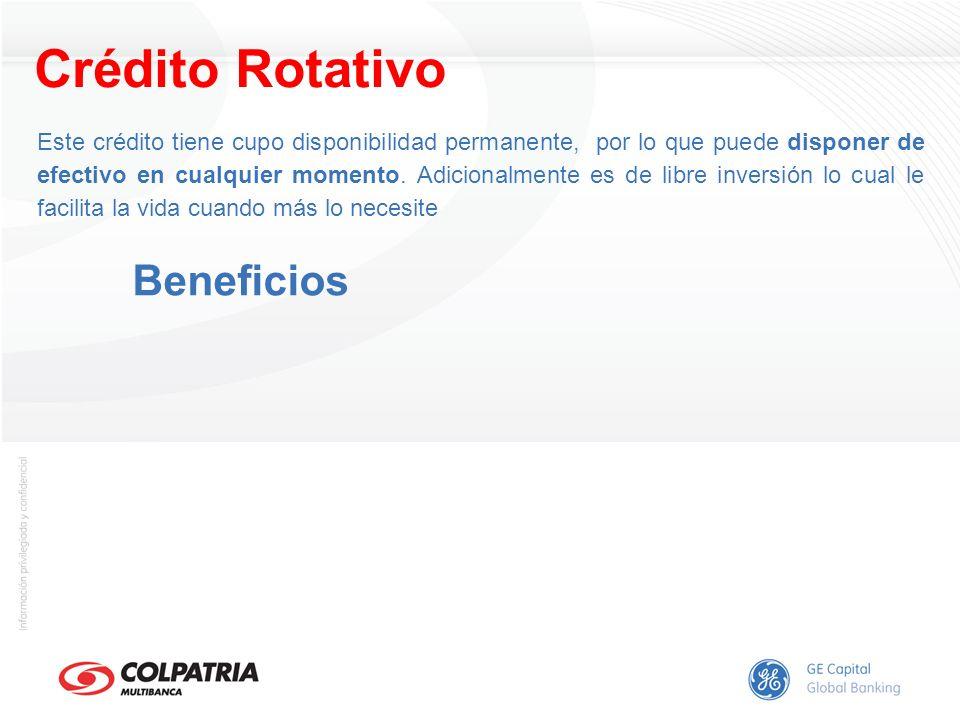 Crédito Rotativo Beneficios