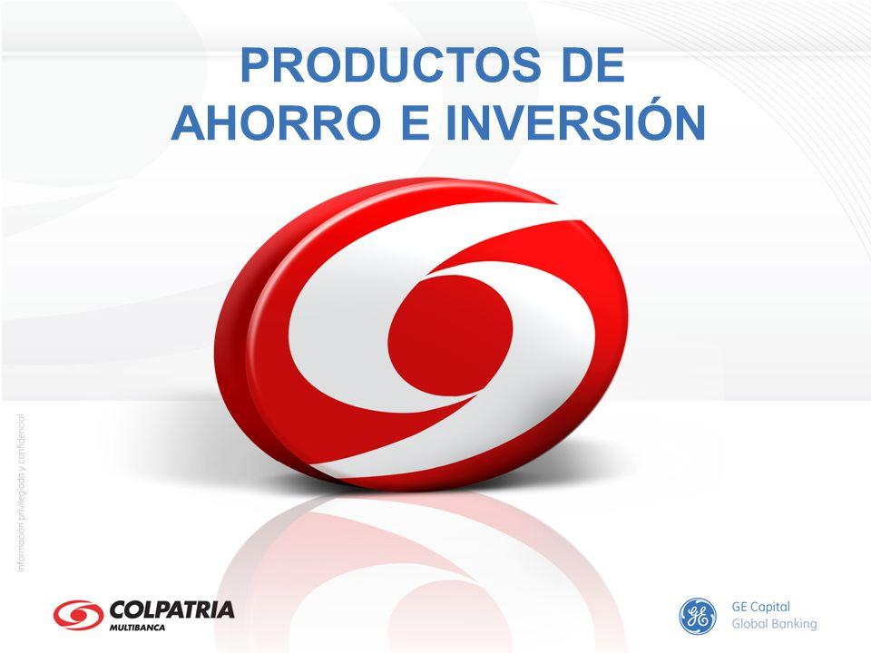 PRODUCTOS DE AHORRO E INVERSIÓN