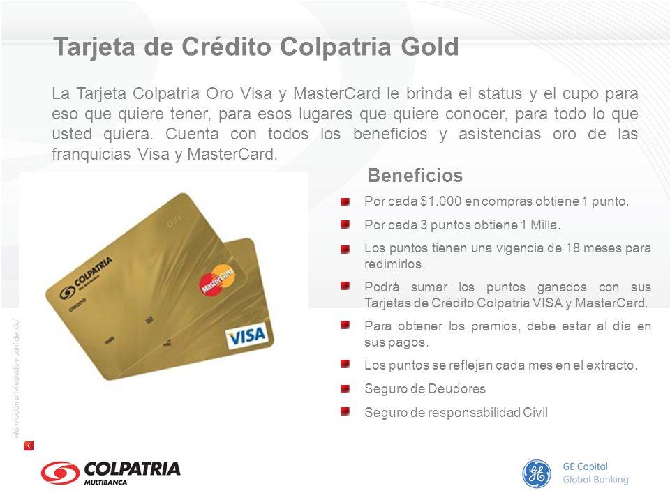 Tarjeta de Crédito Colpatria Gold