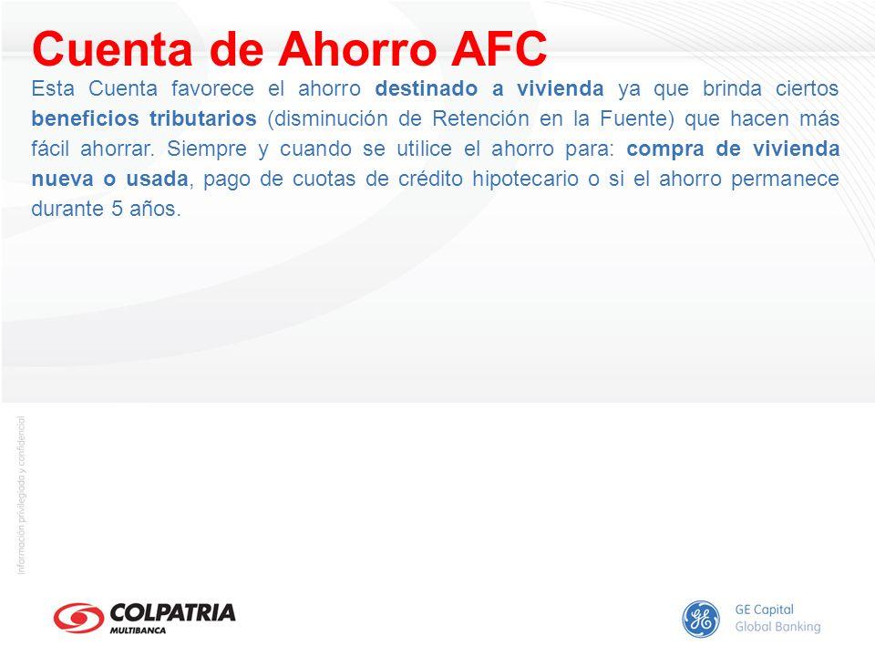 Cuenta de Ahorro AFC