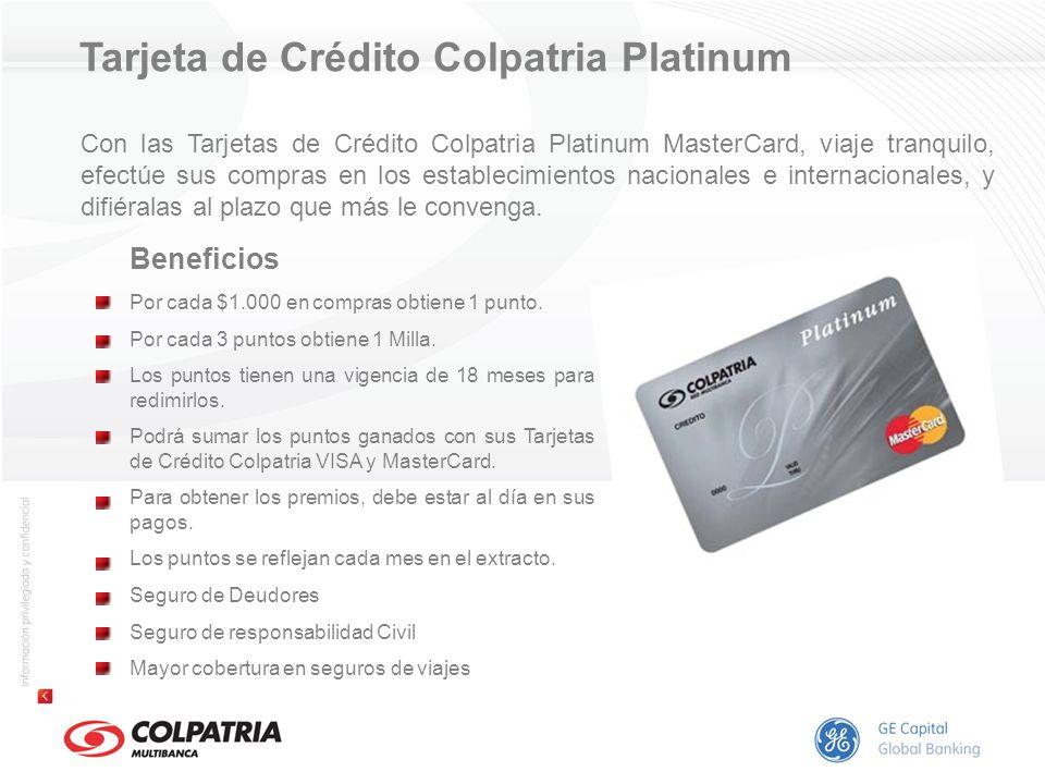 Tarjeta de Crédito Colpatria Platinum