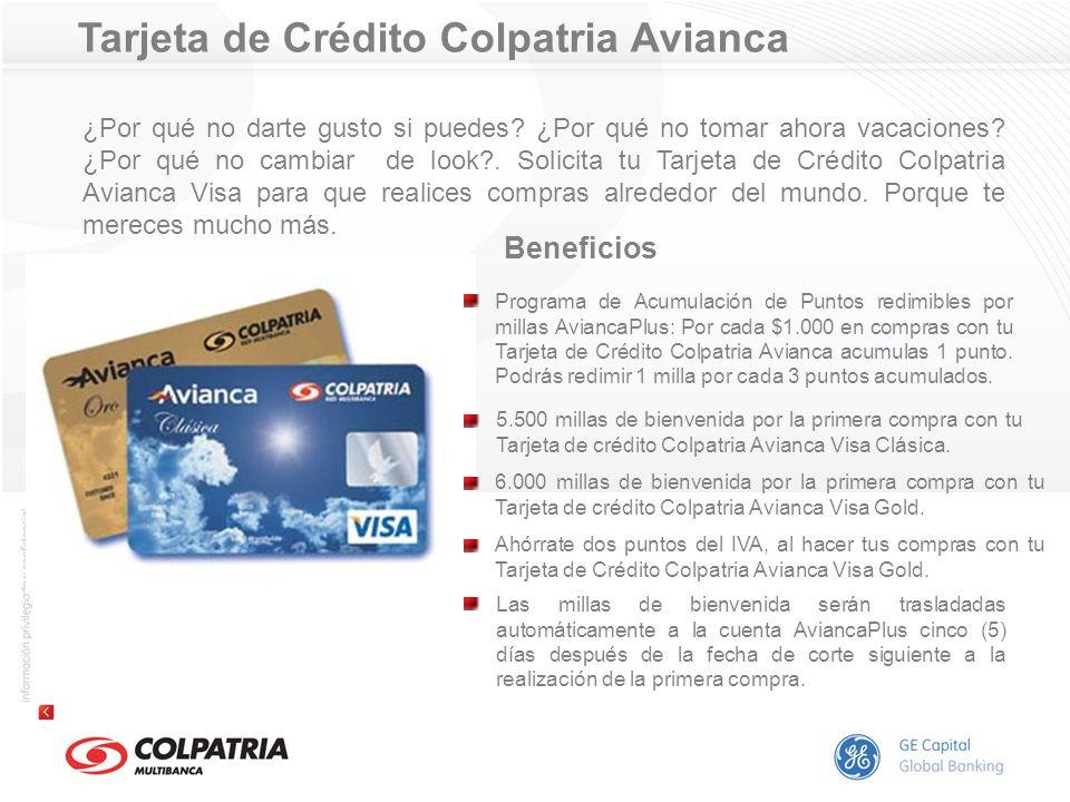 Tarjeta de Crédito Colpatria Avianca