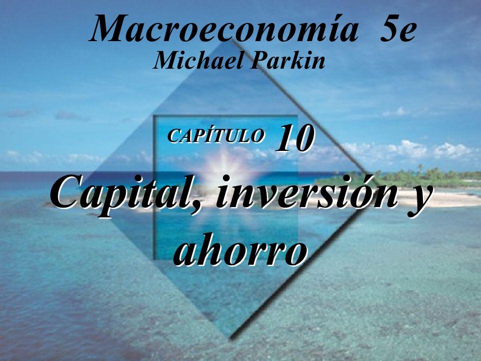 CAPÍTULO 10 Capital, inversión y ahorro