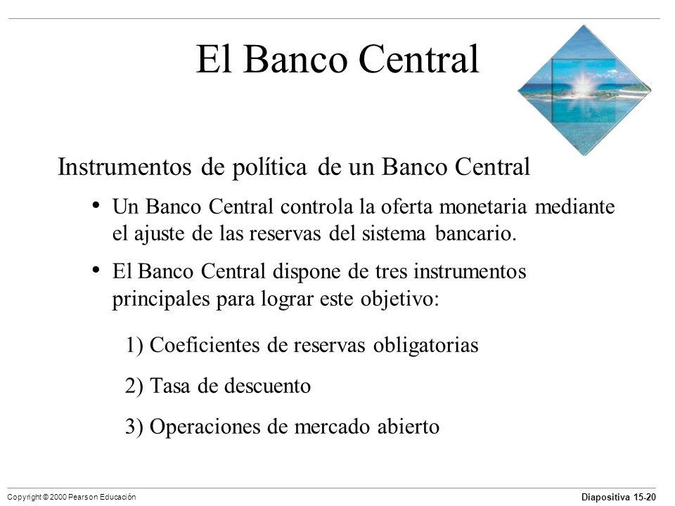 El Banco Central Instrumentos de política de un Banco Central