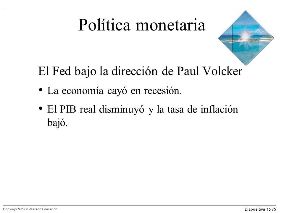 Política monetaria El Fed bajo la dirección de Paul Volcker