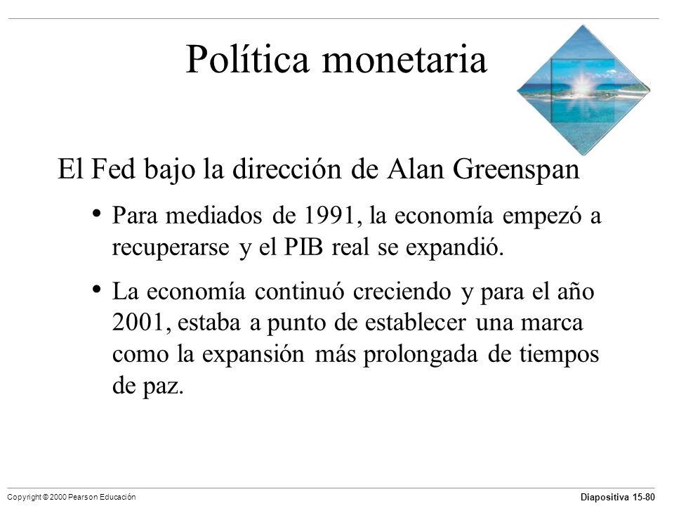 Política monetaria El Fed bajo la dirección de Alan Greenspan
