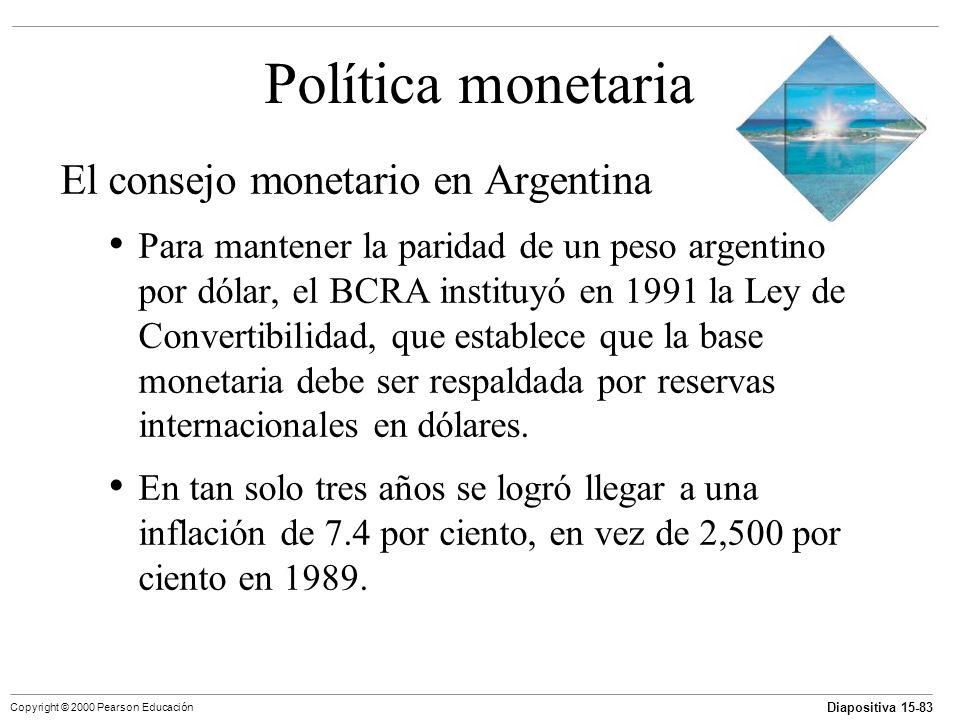 Política monetaria El consejo monetario en Argentina