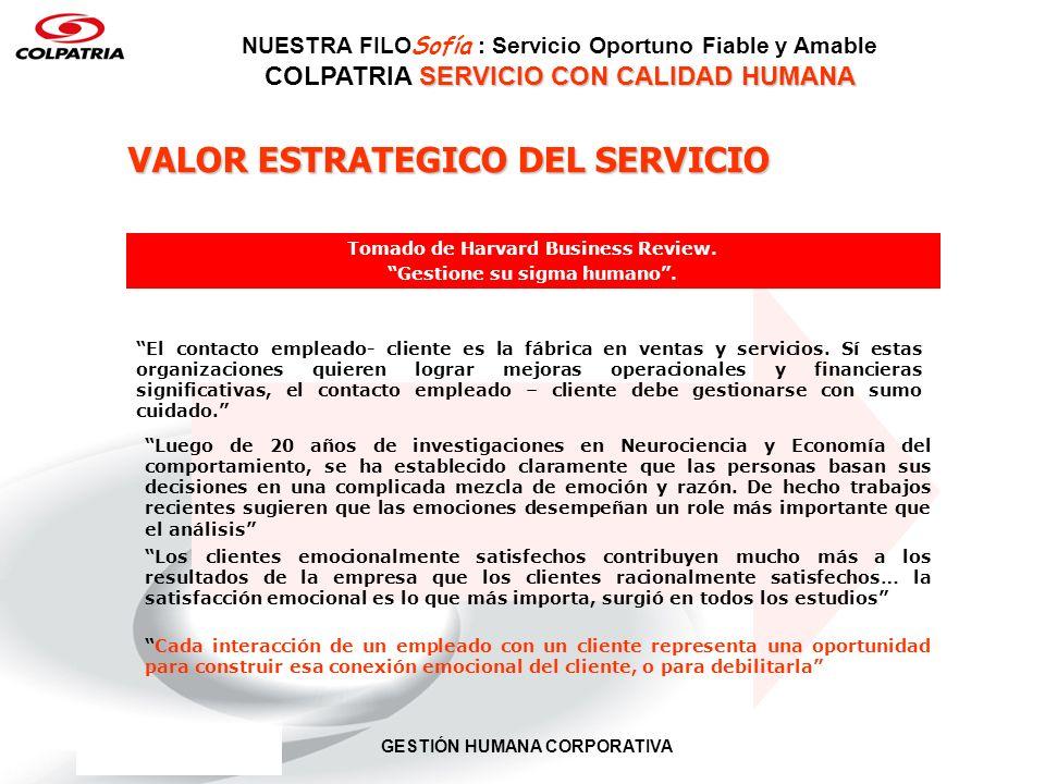 VALOR ESTRATEGICO DEL SERVICIO