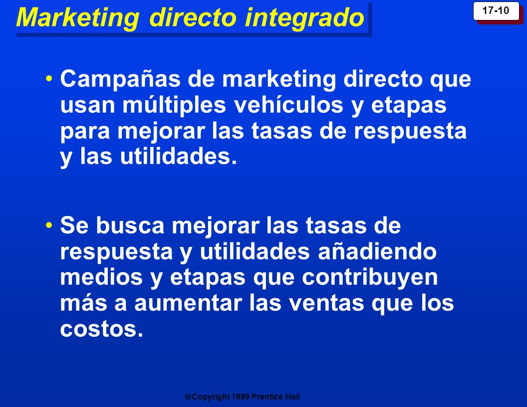Marketing directo integrado