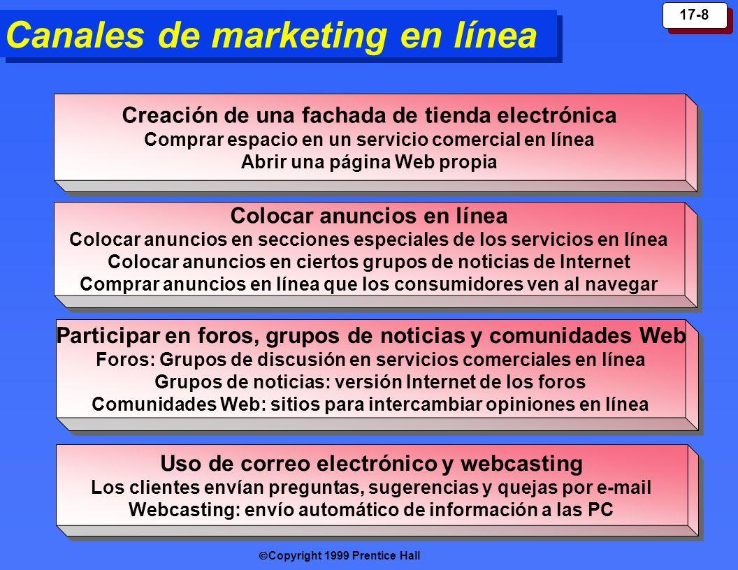 Canales de marketing en línea