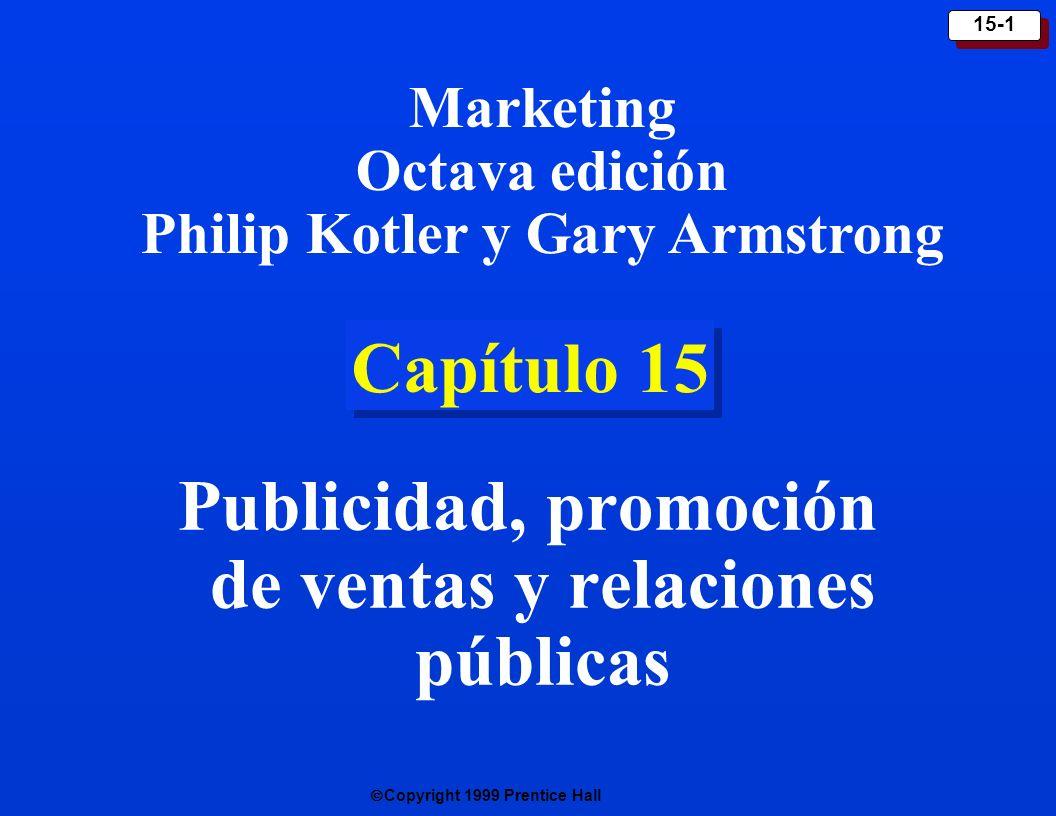Publicidad, promoción de ventas y relaciones públicas
