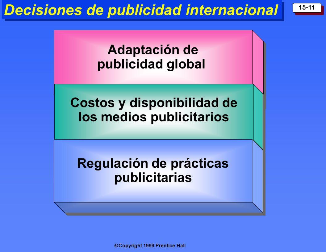 Decisiones de publicidad internacional