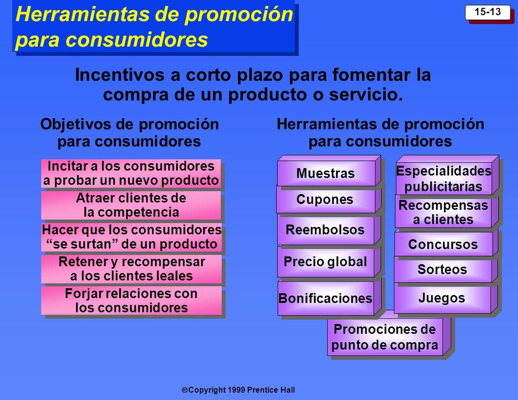 Herramientas de promoción para consumidores