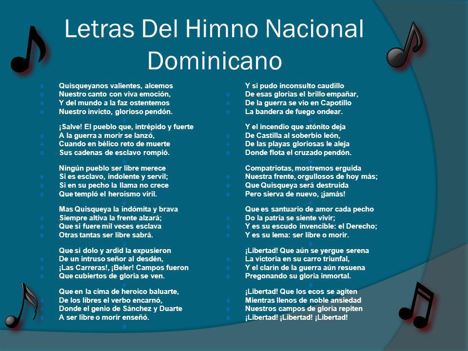 Letras Del Himno Nacional Dominicano