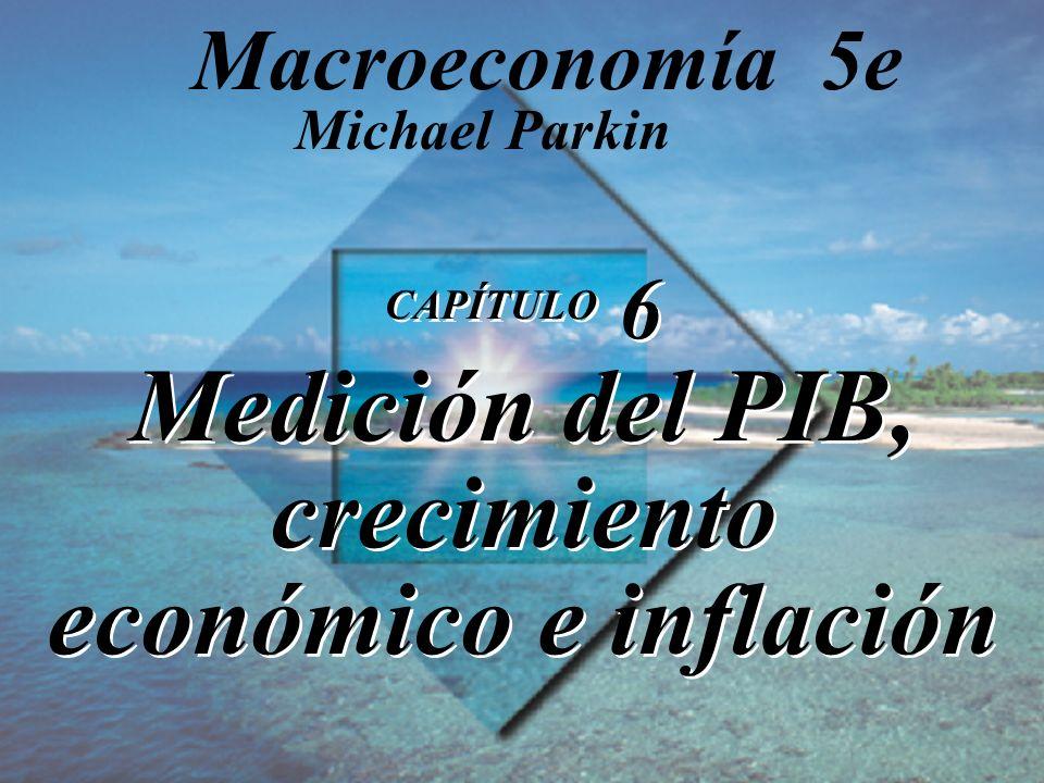CAPÍTULO 6 Medición del PIB, crecimiento económico e inflación