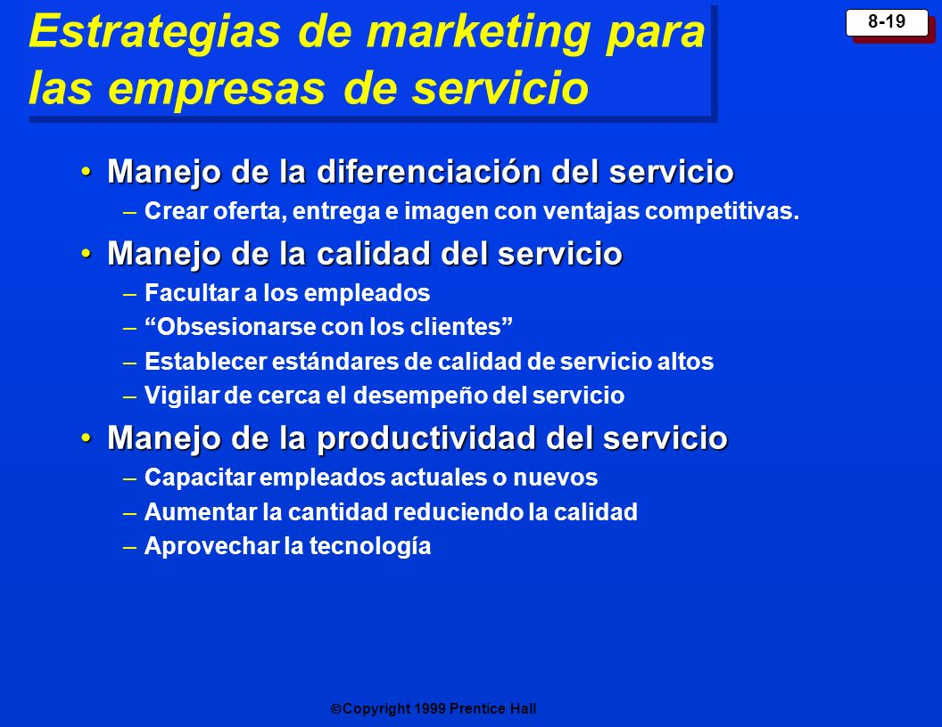 Estrategias de marketing para las empresas de servicio