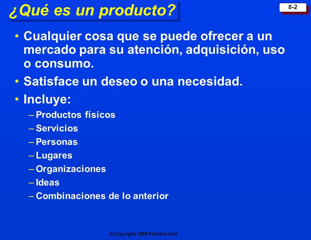 ¿Qué es un producto Cualquier cosa que se puede ofrecer a un mercado para su atención, adquisición, uso o consumo.