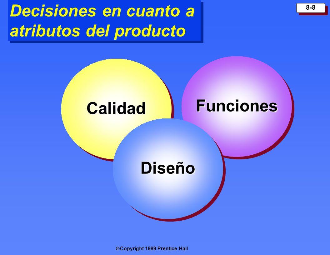 Decisiones en cuanto a atributos del producto