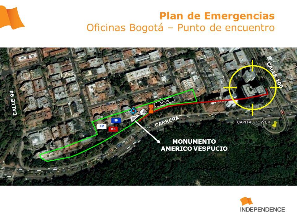 Plan de Emergencias Oficinas Bogotá – Punto de encuentro