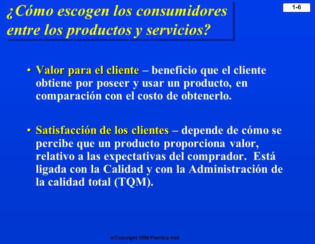 ¿Cómo escogen los consumidores entre los productos y servicios