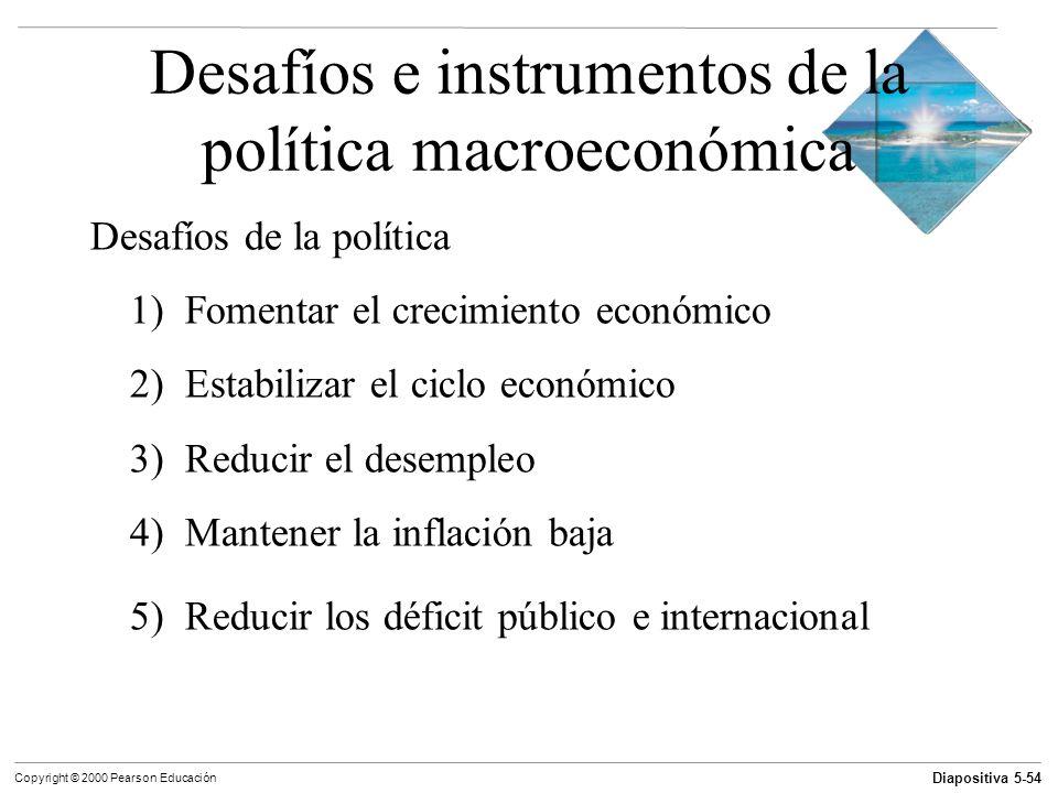 Desafíos e instrumentos de la política macroeconómica