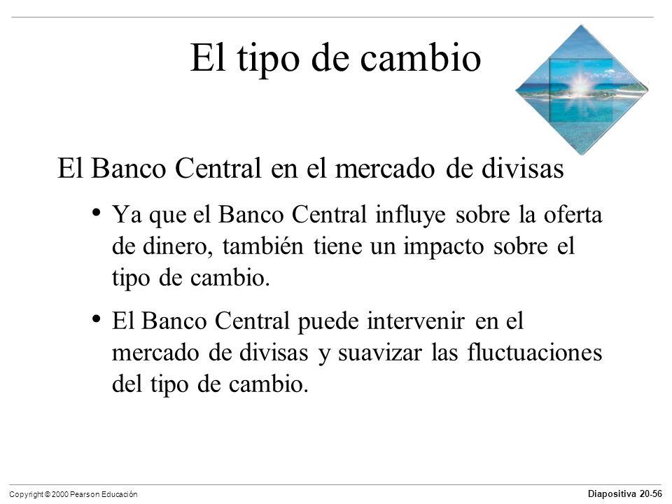 El tipo de cambio El Banco Central en el mercado de divisas